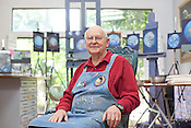 Portrait of painter and former NASA Apollo 12 astronaut Alan Bean at his home studio in Houston, Texas on October 30, 2012. CREDIT Lance Rosenfield/Prime