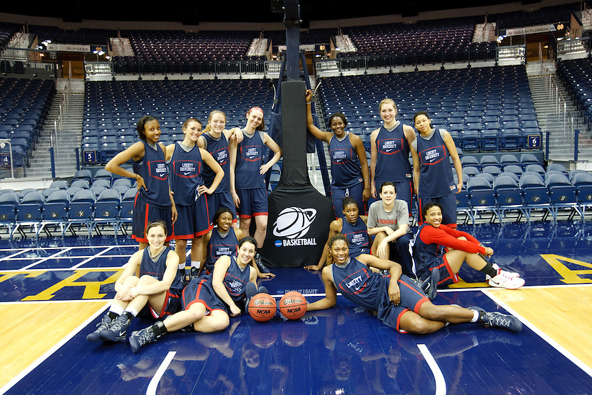 The team in the Joyce Center following practice.