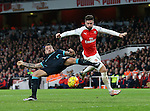 Arsenal's Olivier Giroud tussles with Manchester City's Nicolas Otamendi<br /> <br /> Barclays Premier League- Arsenal vs Manchester City - Emirates Stadium - England - 21st December 2015 - Picture David Klein/Sportimage