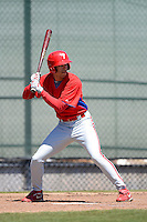 Philadelphia Phillies outfielder Jonathan Knight (25) during a minor league Spring Training game against the New York Yankees at Carpenter Complex on March 21, 2013 in Clearwater, Florida.  (Mike Janes/Four Seam Images)