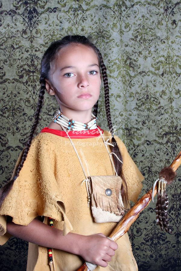 Native American Lakota Sioux Indian boy