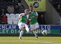 Lewis Stevenson in the St Mirren v Hibernian Clydesdale Bank Scottish Premier League match played at St Mirren Park, Paisley on 29.4.12. ..