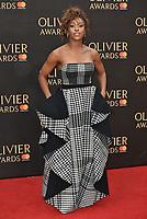 Alexandra Burke<br /> The Olivier Awards 2018 , arrivals at The Royal Albert Hall, London, UK -on April 08, 2018.<br /> CAP/PL<br /> &copy;Phil Loftus/Capital Pictures