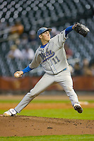 Relief pitcher Trevor Bauer #11 of the UCLA Bruins in action versus the Rice Owls  in the 2009 Houston College Classic at Minute Maid Park February 27, 2009 in Houston, TX.  The Owls defeated the Bruins 5-4 in 10 innings. (Photo by Brian Westerholt / Four Seam Images)