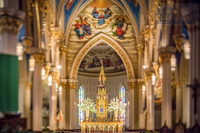October 31, 2017; Basilica of the Sacred Heart interior (Photo by Matt Cashore/University of Notre Dame)