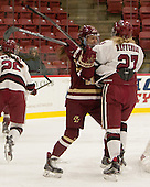 Meghan Grieves (BC - 17), Karly Heffernan (Harvard - 27) - The visiting Boston College Eagles defeated the Harvard University Crimson 2-0 on Tuesday, January 19, 2016, at Bright-Landry Hockey Center in Boston, Massachusetts.