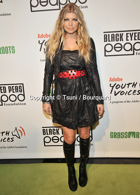 Fergie ( Black Eyed Peas ) -<br /> 5th Annual Black Eyed Peas Benefit Concert at The Conga Room In Los Angeles.