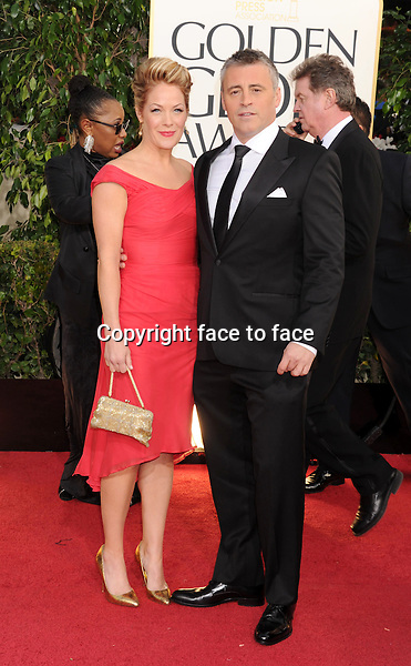Matt LeBlanc and Andrea Anders attending the 70th Annual Golden Globe Awards held at The Beverly Hilton Hotel in Beverly Hills, California, 13.01.2013...Credit: Peters/face to face..- No Rights for USA, Canada and France -