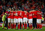 Wales have a team huddle at the end of the match during the World Cup Qualifying Group D match at the Cardiff City Stadium, Cardiff. Picture date 2nd September 2017. Picture credit should read: Simon Bellis/Sportimage