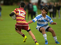Action from the under-15 Wellington Secondary Schools rugby match between St Patrick's College Silverstream at Heretaunga College in Wellington, New Zealand on Saturday, 29 April 2017. Photo: Dave Lintott / lintottphoto.co.nz