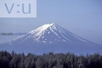 Mount Fujiyama volcanic peak, Japan.