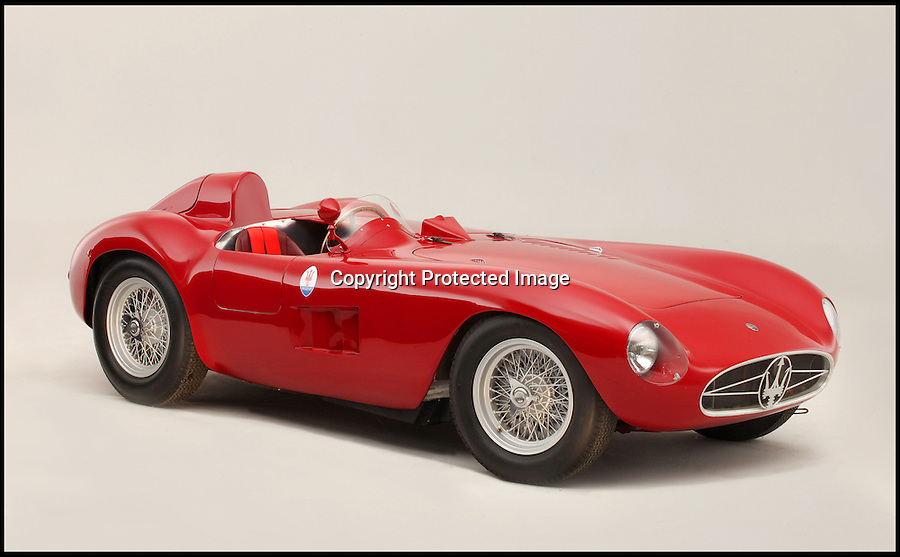 BNPS.co.uk (01202 558833)<br /> Pic: Bonhams/James Mann/BNPS <br /> <br /> ***Must Use Full Byline***<br /> <br /> Sold for £4 million - World record price paid for beautiful Maserati racing car.<br /> <br /> This stunning 1955 Maserati 300S has smashed the world record price for the legendary italian sportscar brand after a bidding frenzy at the Goodwood Festival of Speed.<br /> <br /> Powered by a 3 litre, straight six engine Stirling Moss described it as 'one of the easiest, nicest, best balanced racing cars ever made' - this car was raced in America by 'Big' Bill Spear in the 1950's.<br /> <br /> The previous record price for a Maserati was £2.25 million.