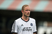 former Wycombe player Scott Rendall of Aldershot Town during the pre season friendly match between Aldershot Town and Wycombe Wanderers at the EBB Stadium, Aldershot, England on 22 July 2017. Photo by Andy Rowland.