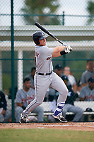 Detroit Tigers Dylan Burdeaux (21) at bat during an Instructional League game against the Pittsburgh Pirates on October 6, 2017 at Pirate City in Bradenton, Florida.  (Mike Janes/Four Seam Images)