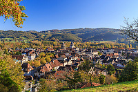France, Correze, Dordogne valley,  Beaulieu sur Dordogne, general view // France, Corrèze (19), vallée de la Dordogne, Beaulieu-sur-Dordogne, vue générale