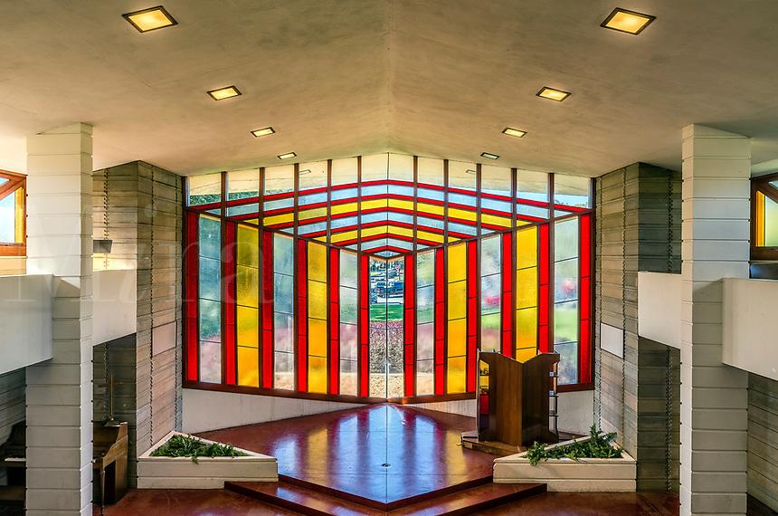 Danforth Chapel designed by Frank Loyd Wright, Florida, Florida Southern College, Lakeland, USA