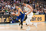 Real Madrid Rudy Fernandez and Khimki Moscow Alexey Shved during Turkish Airlines Euroleague match between Real Madrid and Khimki Moscow at Wizink Center in Madrid, Spain. November 02, 2017. (ALTERPHOTOS/Borja B.Hojas)