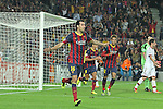 06.11.2013 Barcelona, Spain. Uefa Champions League Matchday 4 group H. Picture show Sergio Busquets  in action during game between FC Barcelona against AC Milan at Camp Nou