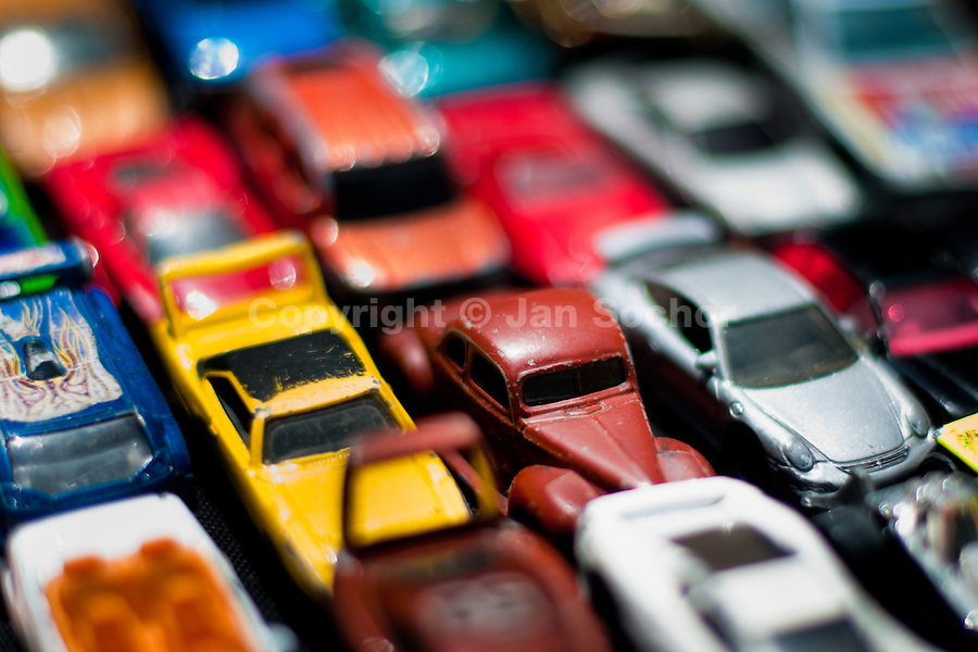 Toy cars on the street market, Bogota, Colombia, 30 May 2010.