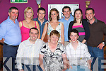 The O'Connor's from Killorglin had double birthday celebrations Denis 30th and Lawrence 21st in the Fishery bar Killorglin on Saturday front row l-r: Denis,Vera, Lawrence O'Connor. Back row: Lawrence O'Connor, Carla Geary, Paul, Marie, Aidan, Jennifer and Robert O'Connor   Copyright Kerry's Eye 2008
