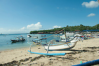 Padangbai, Bali. This harbour is the main point for ferries and boats to Lombok.
