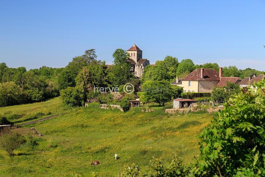 France, Haute-Vienne (87), le Chalard, église de l'Assomption // France, Haute Vienne, le Chalard, Assomption church