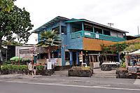 Sea-side restaurant and shops. Kailua-Kona, Big Island, Hawaii