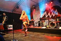 Gro&szlig;-Gerau 24.08.2018: Volk im Schloss<br /> Auftritt der Band Mia mit S&auml;ngerin Mieze Katz (Maria Mummert) tritt als Headliner bei Volk im Schloss auf<br /> Foto: Vollformat/Marc Sch&uuml;ler, Sch&auml;fergasse 5, 65428 R'heim, Fon 0151/11654988, Bankverbindung KSKGG BLZ. 50852553 , KTO. 16003352. Alle Honorare zzgl. 7% MwSt.