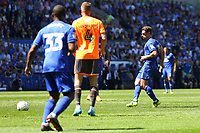 Craig Bryson of Cardiff City has a shot on goal during the Sky Bet Championship match between Cardiff City and Reading at The Cardiff City Stadium, Wales, UK. Sunday 06 May 2018
