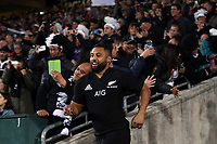 Lima Sopoaga runs out for the Rugby Championship match between the New Zealand All Blacks and South Africa Springboks at QBE Stadium in Albany, Auckland, New Zealand on Saturday, 16 September 2017. Photo: Shane Wenzlick / lintottphoto.co.nz