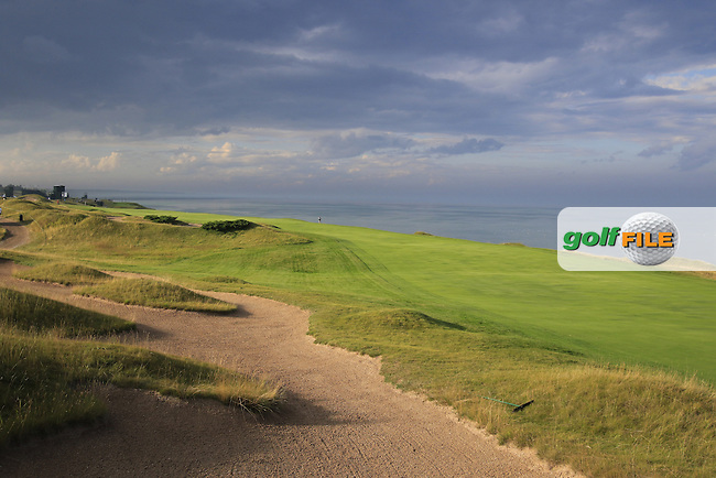 The 16th hole during Monday's Practice Day of the 97th US PGA Championship 2015 held at Whistling Straits, Mosel, Kohler, Wisconsin, United States of America. 10/08/2015.<br /> Picture Eoin Clarke, www.golffile.ie