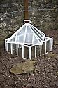 Traditional glass lantern cloche, Heligan, Cornwall, mid February.