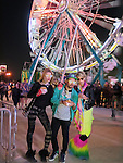EXCLUSIVE: Jesse Metcalfe, Sean P. Diddy and Paris Hilton at the Neon Carnival Party Coachella at the Tradition Aviation Thermal, CA.<br />