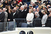 Former United States President Jimmy Carter,  Former President Bill Clinton wait with former President George W. Bush (R) at inauguration on January 20, 2017 in Washington, D.C.  Donald Trump becomes the 45th President of the United States.       <br /> Credit: Pat Benic / Pool via CNP