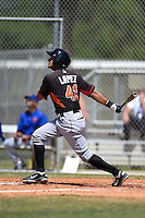 Miami Marlins Carlos Lopez (41) during a minor league spring training game against the New York Mets on March 30, 2015 at the Roger Dean Complex in Jupiter, Florida.  (Mike Janes/Four Seam Images)