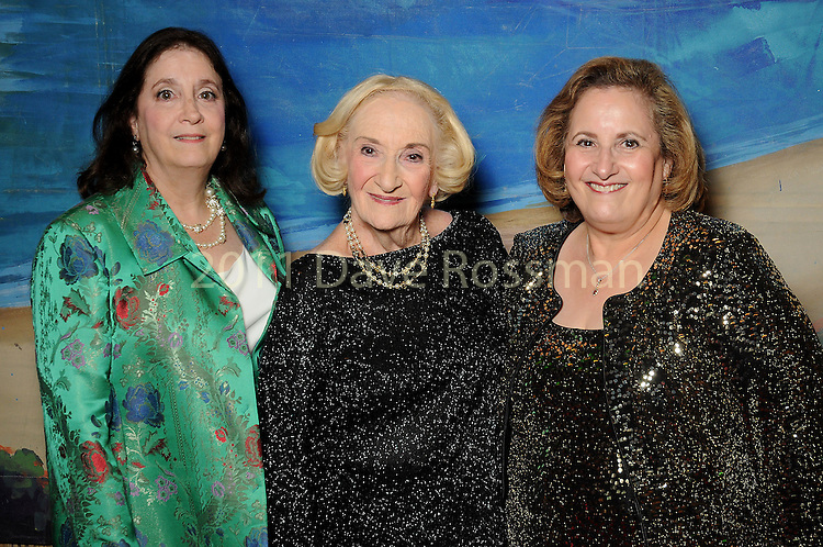 "From left: Betsy Garlinger, honoree Sybil Roos and Cathey Cook at the 2016 Houston Symphony Gala ""Carnaval"" at Jones Hall Saturday May 14,2016(Dave Rossman Photo)"