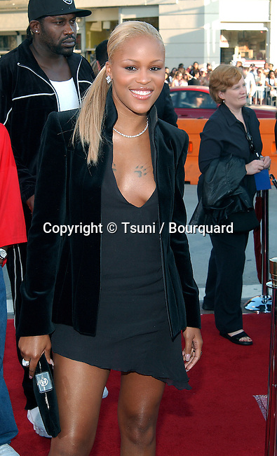 Eve arriving at the premiere of  of xXx (triple X) at The Westwood Village Theatre in Los Angeles. August 5, 2002.           -            Eve01B.jpg