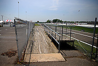 May 30, 2013; Englishtown, NJ, USA: A wooden ramp leads up to a handicapped viewing area at Raceway Park. Mandatory Credit: Mark J. Rebilas-