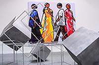 RIO DE JANEIRO, RJ, 05 DE SETEMBRO DE 2013 -ARTRIO 2013/ABERTURA PARA O PÚBLICO- Abertura para o público da ARTRIO 2013 que chega a sua terceira edição e reúne grandes nomes da arte mundial entre os dias 5 e 8 de setembro. A feira conquistou o reconhecimento do mercado e hoje é vista como o mais importante evento do segmento na América Latina com participação de representantes de 13 países: Alemanha, Argentina, Brasil, Colômbia, Espanha, Estados Unidos, França, Itália, México, Reino Unido, Peru, Portugal, Suíça e Uruguai, no Píer Mauá, zona portuária do do Rio de Janeiro.FOTO:MARCELO FONSECA/BRAZIL PHOTO PRESS
