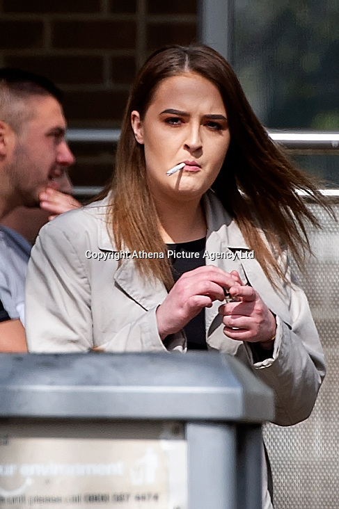 Pictured: Sophie Millard leaves Merthyr Crown Court.<br /> Re: Sophie Millard has appeared before Merthyr Crown Court accusing of a attacking a man with a glass bottle in a night club.