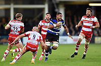 Taulupe Faletau of Bath Rugby goes on the attack. Aviva Premiership match, between Bath Rugby and Gloucester Rugby on October 29, 2017 at the Recreation Ground in Bath, England. Photo by: Patrick Khachfe / Onside Images