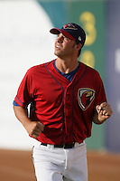 April 17, 2010: Ashtown Mowdy of the Lancaster JetHawks before game against the Rancho Cucamonga Quakes at Clear Channel Stadium in Lancaster,CA.  Photo by Larry Goren/Four Seam Images