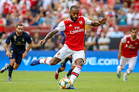 Landover, MD - July 23, 2019: Arsenal Alexandre Lacazette (9) scores on a plenty kick during the match between Arsenal and Real Madrid at FedEx Field in Landover, MD.   (Photo by Elliott Brown/Media Images International)
