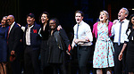 Julie Halston, Reggie Jackson, Danny Burstein, Maggie Gyllenhaal, Whoopi Goldberg, Matthew Morrison, Victoria Clark, Stephen Bogardus, Adrienne Warren, and cast during the Curtain Call for the Roundabout Theatre Company presents a One-Night Benefit Concert Reading of 'Damn Yankees' at the Stephen Sondheim Theatre on December 11, 2017 in New York City.