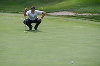 Ian Poulter (GBR) lines up his putt on 3 during 4th round of the World Golf Championships - Bridgestone Invitational, at the Firestone Country Club, Akron, Ohio. 8/5/2018.<br /> Picture: Golffile | Ken Murray<br /> <br /> <br /> All photo usage must carry mandatory copyright credit (© Golffile | Ken Murray)