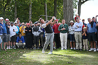 Lee Westwood (Team Europe) finds the trees down the 5th during Thursday's Practice Round ahead of The 2016 Ryder Cup, at Hazeltine National Golf Club, Minnesota, USA.  29/09/2016. Picture: David Lloyd | Golffile.
