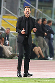 12th September 2017, Stadio Olimpic, Rome, Italy; UEFA Champions League between AS Roma versus Club Atletico de Madrid  Diego Simeone makes his point ; the game ended on a 0-0 draw