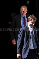 (From L to R) Chris Grayling MP (Secretary of State for Transport) &amp; Jeremy Hunt MP (Secretary of State for Health).<br /> <br /> London, 12/06/2017. Today, Theresa May's reshuffled Cabinet met at 10 Downing Street after the General Election of the 8 June 2017. Philip Hammond MP - not present in the photos - was confirmed as Chancellor of the Exchequer. <br /> After 5 years of the Coalition Government (Conservatives &amp; Liberal Democrats) led by the Conservative Party leader David Cameron, and one year of David Cameron's Government (Who resigned after the Brexit victory at the EU Referendum held in 2016), British people voted in the following way: the Conservative Party gained 318 seats (42.4% - 13,667,213 votes &ndash; 12 seats less than 2015), Labour Party 262 seats (40,0% - 12,874,985 votes &ndash; 30 seats more then 2015); Scottish National Party, SNP 35 seats (3,0% - 977,569 votes &ndash; 21 seats less than 2015); Liberal Democrats 12 seats (7,4% - 2,371,772 votes &ndash; 4 seats more than 2015); Democratic Unionist Party 10 seats (0,9% - 292,316 votes &ndash; 2 seats more than 2015); Sinn Fein 7 seats (0,8% - 238,915 votes &ndash; 3 seats more than 2015); Plaid Cymru 4 seats (0,5% - 164,466 votes &ndash; 1 seat more than 2015); Green Party 1 seat (1,6% - 525,371votes &ndash; Same seat of 2015); UKIP 0 seat (1.8% - 593,852 votes); others 1 seat. <br /> The definitive turn out of the election was 68.7%, 2% higher than the 2015.<br /> <br /> For more info about the election result click here: http://bbc.in/2qVyNRd &amp; http://bit.ly/2s9ob51<br /> <br /> For more info about the Cabinet Ministers click here: https://goo.gl/wmRYRd