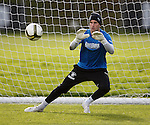 Cammy Bell with eyes on the ball during a practice match