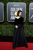 Nominated for BEST PERFORMANCE BY AN ACTRESS IN A MOTION PICTURE &ndash; DRAMA for her role in &quot;The Shape of Water,&quot; actress Sally Hawkins arrives at the 75th Annual Golden Globe Awards at the Beverly Hilton in Beverly Hills, CA on Sunday, January 7, 2018.<br /> *Editorial Use Only*<br /> CAP/PLF/HFPA<br /> &copy;HFPA/PLF/Capital Pictures